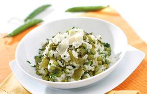 Lemon and pea risotto