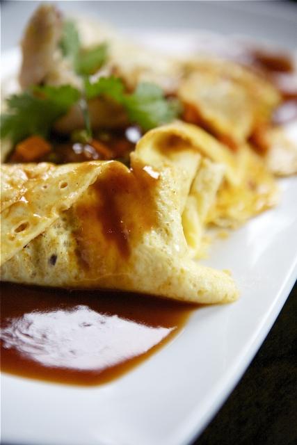 Kai Yad Sai (alternative savoury pancake)