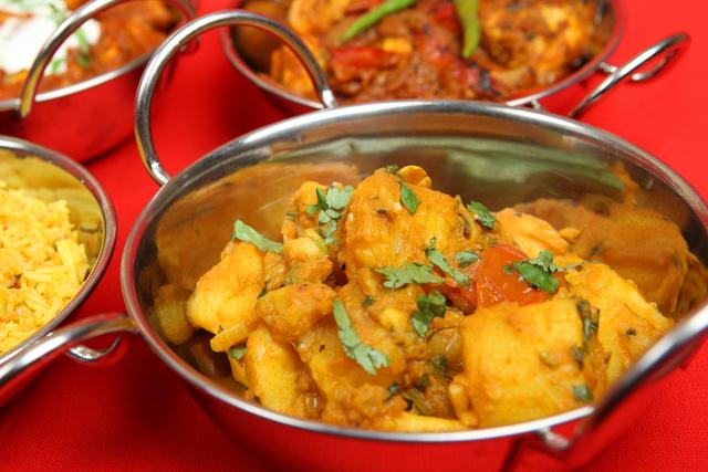 Potato and aubergine curry
