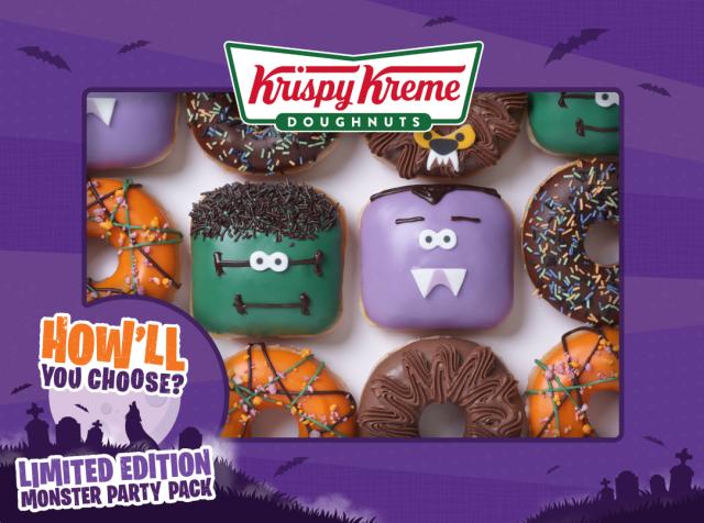 How cute are these Krispy Kreme Halloween doughnuts?