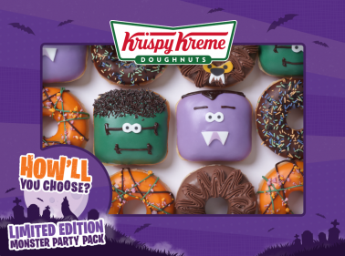 How cute are these Krispy Kreme Halloween doughnuts?