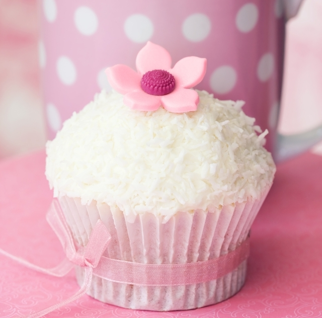 Raspberry and coconut cupcakes