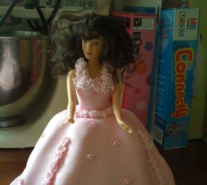 Barbie princess birthday cake