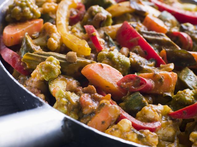 Madras vegetable curry
