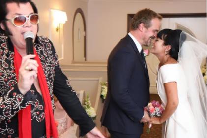How Lily Allen found her last-minute vintage Dior dress for Las Vegas wedding
