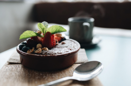 Breakfast recipe to die for: chocolate bircher with caramel crack