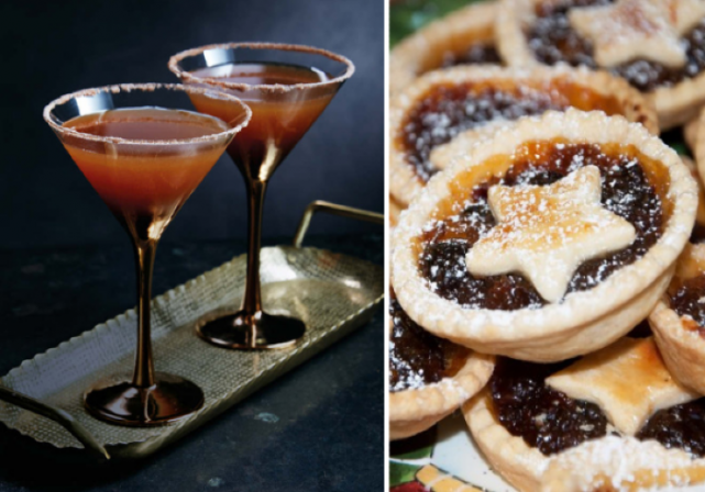 This Mince Pie Martini recipe is just what you need to get into the festive spirit