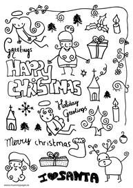 Christmas fun doodles
