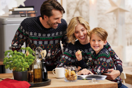 Aldi are selling matching Christmas jumpers for the whole family - even the dog!