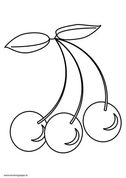Cherries Colouring Page