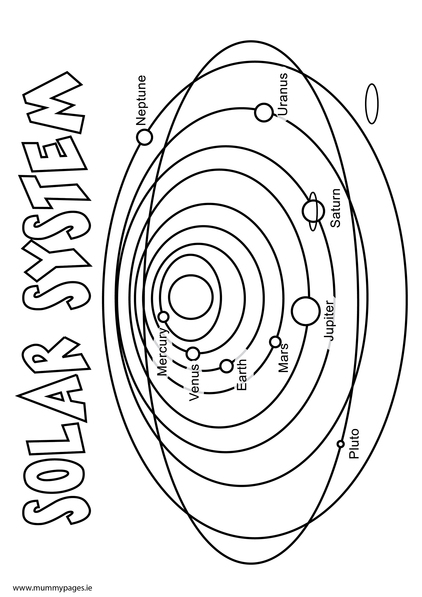 Solar System Colouring Page Mummypages Ie