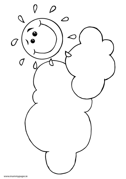 sun and clouds coloring pages - photo#23