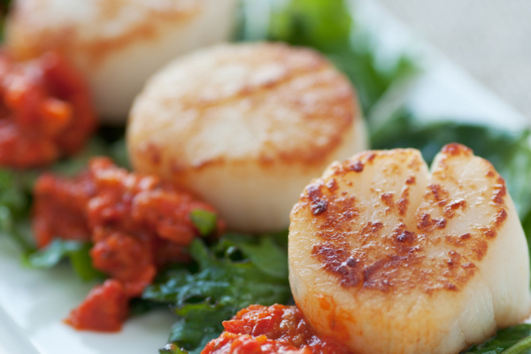 The perfect Christmas Day starter: Seared Scallops with Sweet Chilli Sauce