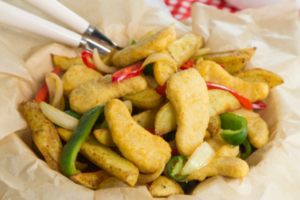 Saturday Night Fake-Away: The easiest chicken dipper spice bag recipe