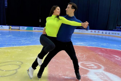 Dancing on Ice star Rebakah Vardy puts her professional partner in the hospital