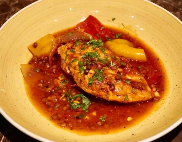 Chicken & lentil casserole recipe by Chef Andrew Rudd