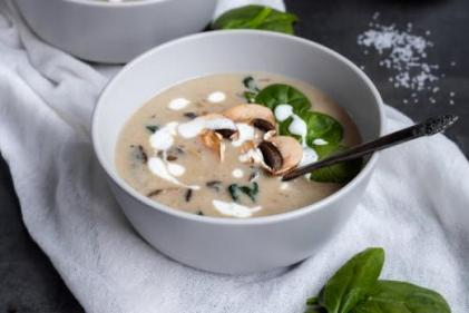 Jamie Olivers mushroom soup has us sorted for this weeks lunchtime