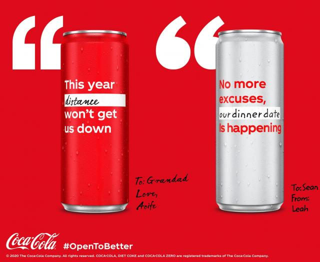 Kick off 2021 by creating Coca-Cola cans with your personalised resolutions