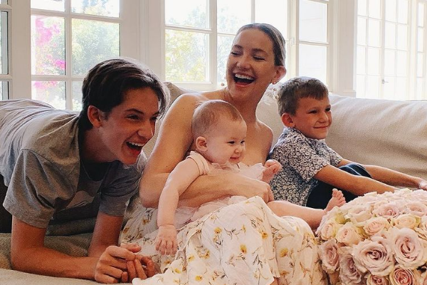 Kate Hudson opens up about how she co-parents with three different dads