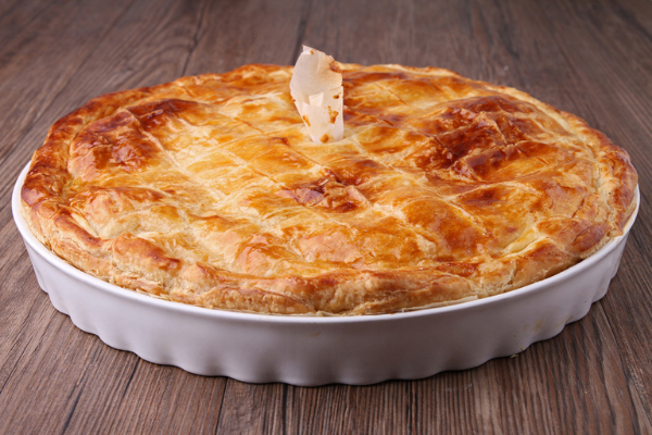 This cheesy potato & onion pie is the perfect veggie-friendly midweek meal