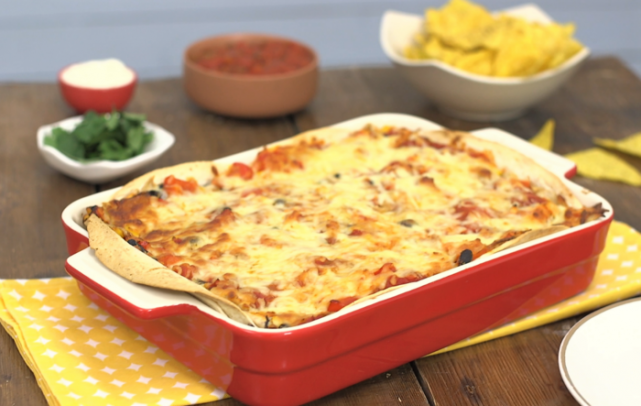 Family Favourite: This delicious Mexican chicken lasagne recipe is made in minutes