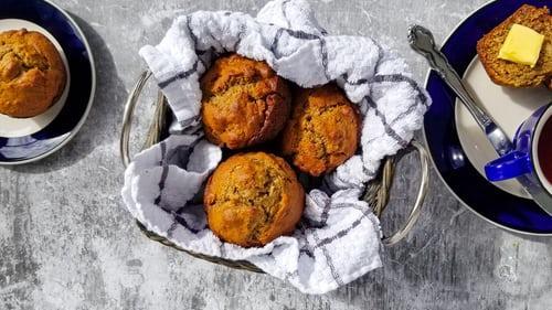 Recipe: Banana-peanut-butter-chocolate muffins