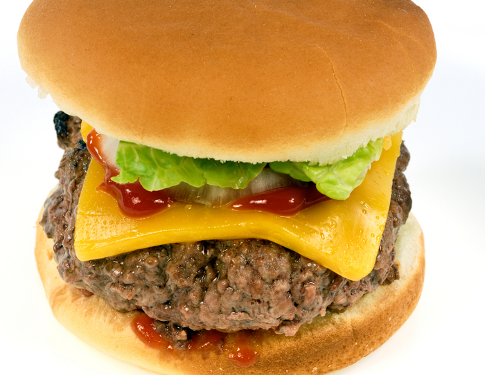 Chilli and pickle cheeseburger