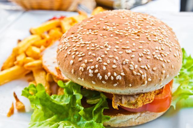 Lemongrass and lime chicken burger