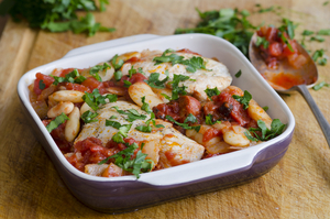 Spanish chicken and bean stew