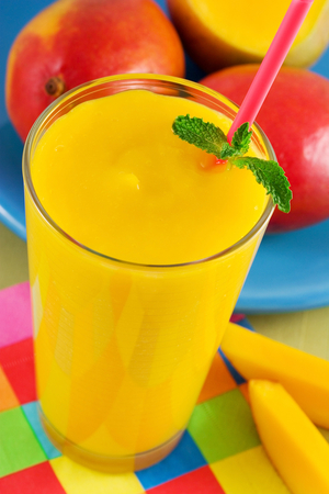 Mango and banana smoothie