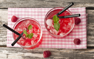 Homemade pink lemonade