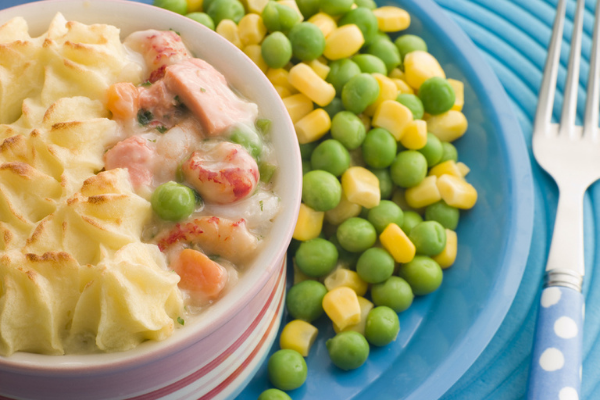 This fish and sweetcorn pie is the perfect family meal to keep in rotation