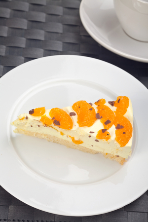 No-bake orange cheesecake
