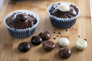 Yummy chocolate fudge cupcakes