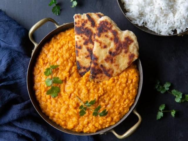Sunday meal prep time! This red lentil dal is our new favourite right now!
