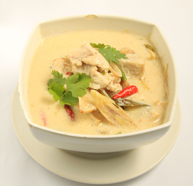 Coconut chicken with lemon rice