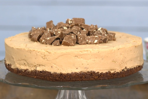 This decadent Toblerone cheesecake recipe is the perfect make-ahead dessert