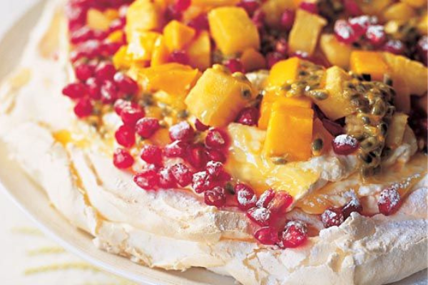 Recipe: You've got to try this vanilla pavlova topped with mixed summer fruits