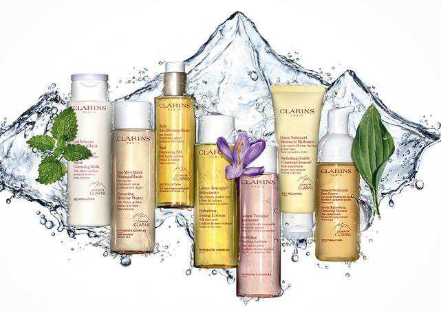 Take your skincare regime to new heights with Clarins alpine-derived cleansing & toning range