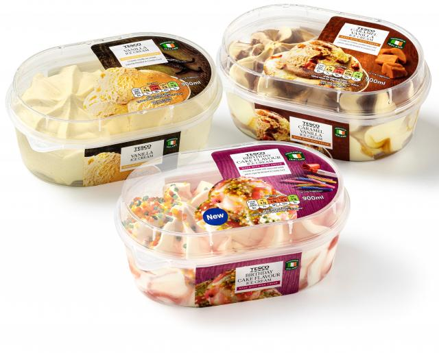Tesco launches ice cream range with four cool new flavours