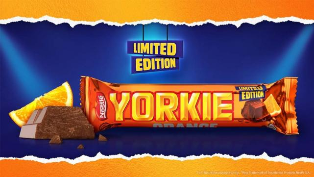 Love orange chocolate?  Then this new Yorkie bars is for you.