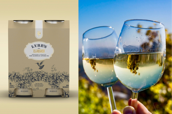 These non-alcoholic cans of wine taste just like prosecco & they're low in calories
