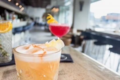 Get tropical with this frozen peach margarita!