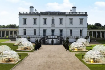 Enjoy a 'Dining Dome' experience on one of Bridgerton's filming locations