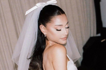 Pics: Ariana Grande shares first wedding snaps and we adore her gown