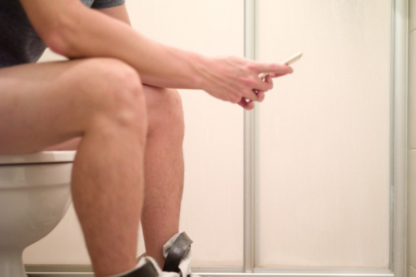 Men apparently spend hours hiding in loos from nagging spouses and chores