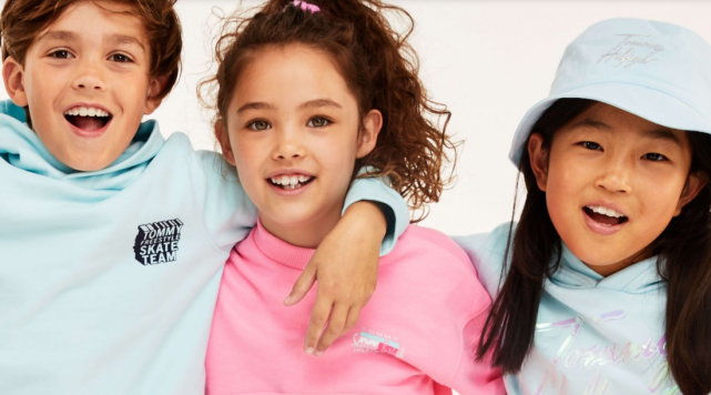 New Tommy Hilfiger kids collection delivers tropical Miami inspired neons