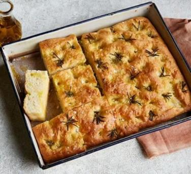 Warm, fluffy and delicious: Garlic and rosemary focaccia bread