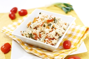 Quick tomato risotto