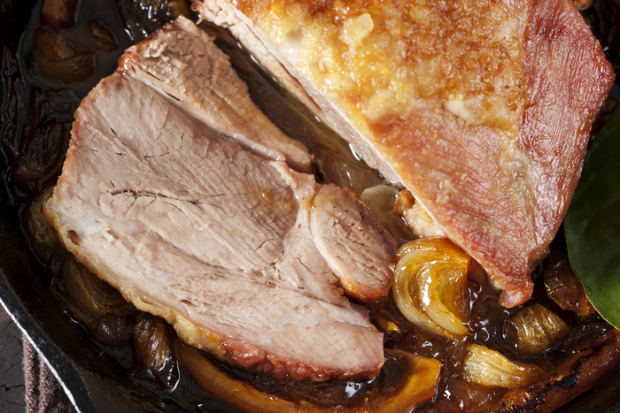 Guinness and honey glazed pork loin